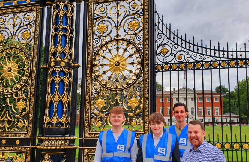 Warrington YC members outside the iconic Golden Gates