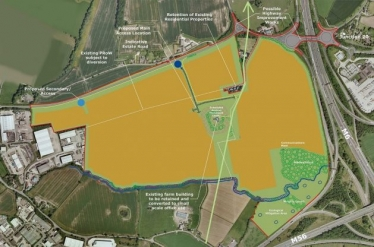 Site plan for the proposed 6-56 development near Lymm